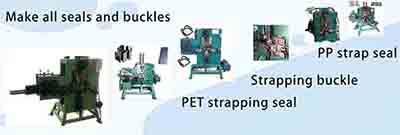 Machines for making all kinds of strapping seal clips and buckles